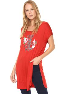 Camiseta Acrobat Alongada Vermelha