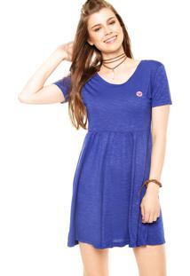 Dafiti. Vestido Curto Roxy All Day Bordado Azul b248016b7d13b