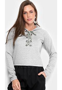 Blusa De Moletom Ms Fashion Capuz Feminina - Feminino