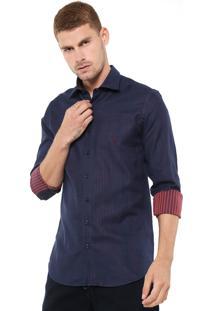 Camisa Dudalina Reta Milano Azul-Marinho