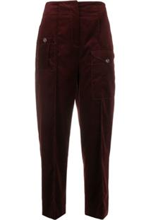Temperley London Esmeralda Tapered Trousers - Vermelho
