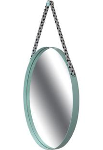 Espelho Budis Moldura Cor Menta Com Alca Estampa Mais 60 Cm (Larg) - 46270 - Sun House