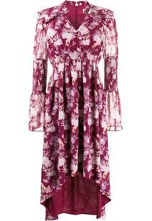 Three Floor Vestido Felicity Com Estampa Floral - Roxo