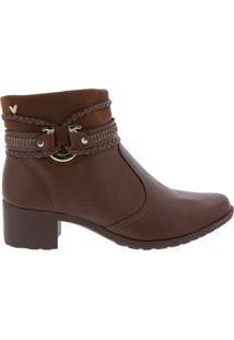 Ankle Boot Mississipi Com Fivela Caramelo