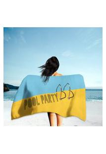 Toalha De Praia / Banho Pool Party Único
