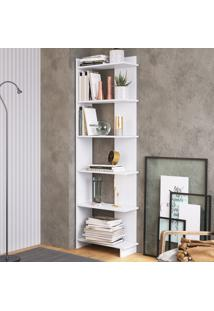 Estante Para Livros 6 Prateleiras Est140 Branco - Completa Móveis