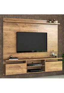 Painel Para Tv Até 55 Polegadas Light 2 Portas Ébano - Viero Móveis