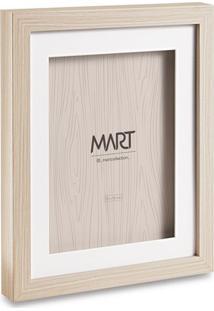 Porta Retrato- Bege & Branco- Tamanho Da Foto: 10X15Mart