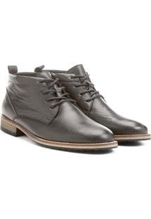 Bota Couro Cano Curto Shoestock - Masculino