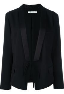 Alexander Wang Blazer Com Amarração - Preto