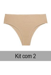 Kit 2 Calcinhas Altas Bonjour (Kt3350) 100% Algodão
