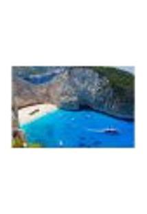 Painel Adesivo De Parede - Grécia - Praia - 1096Png