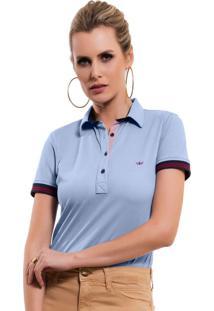 ... Camisa Polo Principessa Melissa Azul da22bb59db1ad