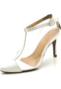 f92e1cf758 Sandália Branca Transparente feminina