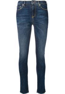 Love Moschino Calça Jeans Skinny Cintura Média - Azul