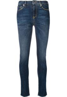 Love Moschino Mid-Rise Skinny Jeans - Azul
