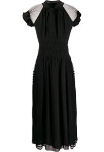 Three Floor Vestido Lolita Com Detalhe Translúcido - Preto