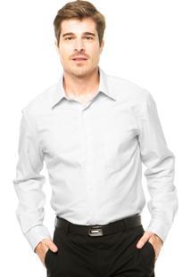 Camisa Perry Ellis Padrão Branca