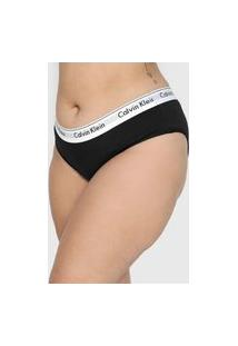 Calcinha Calvin Klein Underwear Tanga Logo Preta