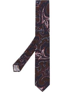 Lardini Gravata Com Estampa Paisley - Azul