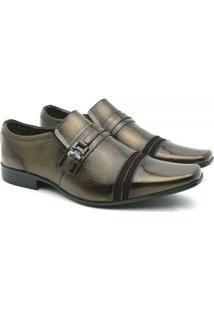 Sapato Social Couro Venetto Prince Verniz - Masculino-Cobre