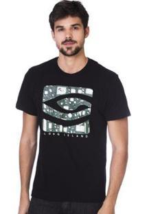 Camiseta Long Island Tec - Masculino-Preto