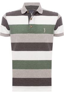 Camisa Polo Aleatory Listrada Mix Masculina - Masculino