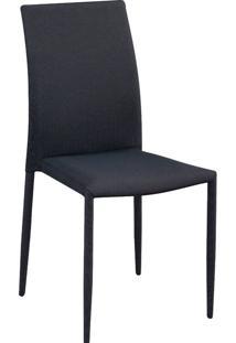 Cadeira Tecido Amanda-Rivatti - Preto / Cinza
