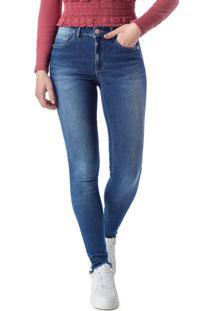 Calça Azul Push Up Em Jeans Power