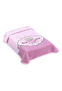 Cobertor Exclusive Com Estampa De Ursinho Rosa