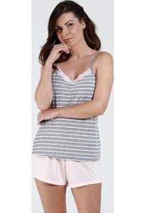 Pijama Feminino Short Doll Listrado Marisa