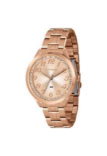 Relógio Lince Feminino Strass Analógico Dourado Lrr4440L-R2Rx