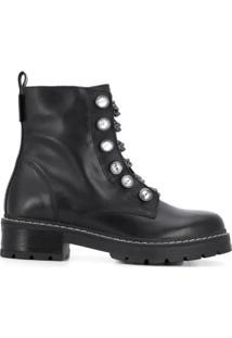 Kurt Geiger London Ankle Boot Com Correntes - Preto