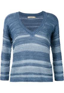 Fillity Blusa De Tricô Listrada - Azul