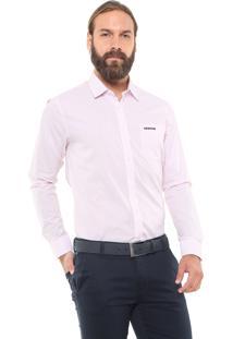 Camisa Mr Kitsch Reta Listrada Rosa/Branca