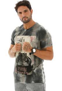 Camiseta Everlast Tie Dye Masculina - Masculino-Cinza