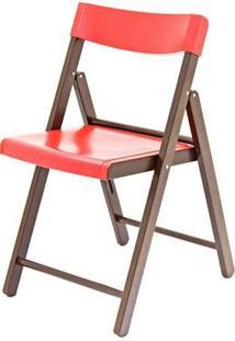 Cadeira Dobrável Fold Potenza Tabaco/Vermelha Tramontina