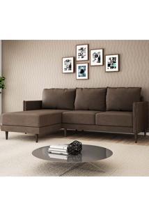 Sofá Sharp 2 Lugares E Chaise Esquerdo – Legacy Sofas - Marrom Claro