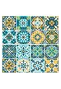 Adesivo De Azulejo Hidráulico Rococó 15X15Cm Com 18Un