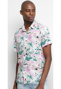 Camisa Pacific Blue Tropical Masculina - Masculino