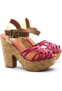 Anabela Saltare 3731602 Pink 37 - Feminino