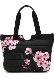 Bolsa Desigual Floral Preta