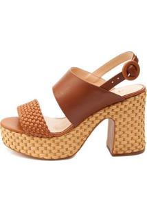 Sandália Plataforma Ferrucci Feminino - Feminino