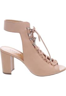 Bota Open Back Lace-Up Neutral | Schutz