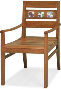 Cadeira Novaes Com Braco Assento Laminado Freijo Natural Com Pes Madeira - 48262 - Sun House