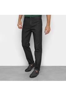 Calça Jeans Slim Ellus Lavagem Escura Cintura Média Masculina - Masculino