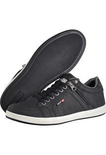 Sapatênis Cr Shoes Com Elástico E Zíper Lateral Lançamento Preto