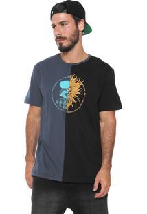 Camiseta ...Lost Two Tone Poseidon Azul-Marinho/Preta