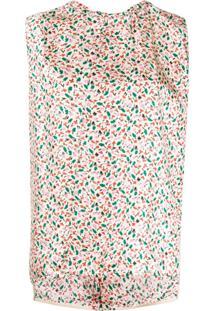 Marni Blusa Com Estampa Floral - Neutro