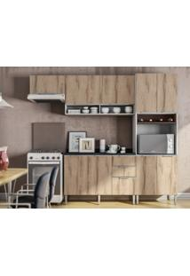 Cozinha Compacta 9 Portas Essence Desira/Branco/Trufa - Aroma